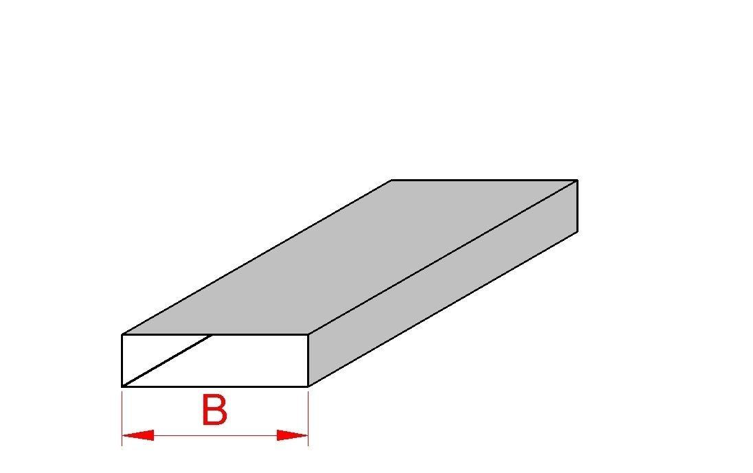 Flachkanal ohne Befestigungsleiste 100 mm