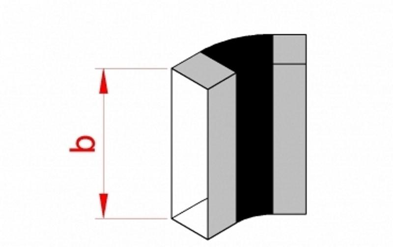 Flachkanal Bogen senkrecht 45° 100 mm