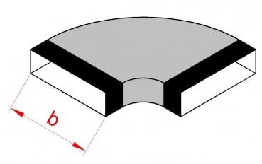 Flachkanal Bogen waagerecht 45° 100 mm