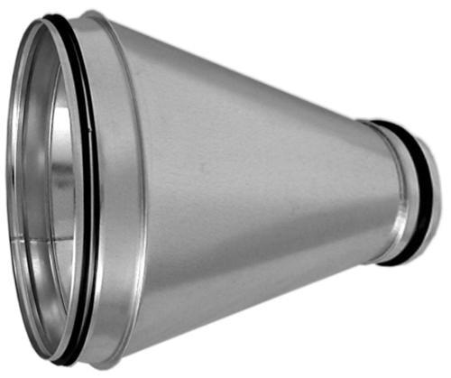 Wickelfalzrohr Reduzierstück Nippel - Nippel (Rohr auf Rohr) Ø 315 mm auf 250 mm mit Dichtung Edelstahl