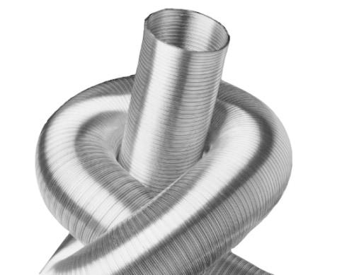 Aluflexrohr (Luftschlauch) Ø 75 mm 3 m