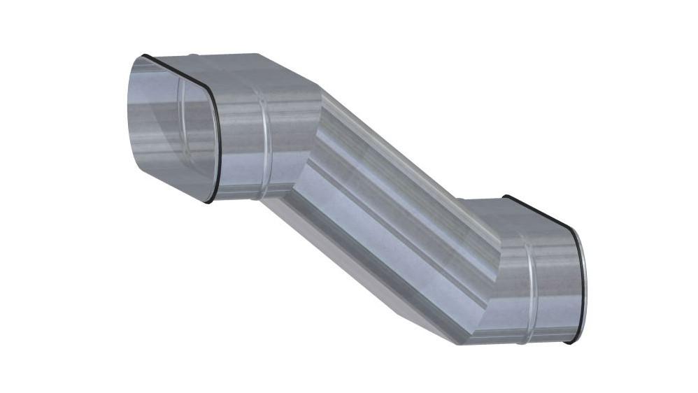 Ovalrohr Etage vertikal