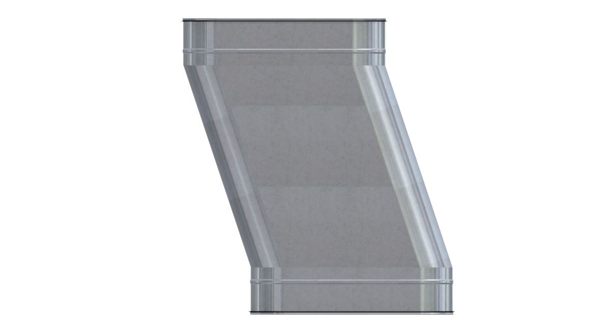 Ovalrohr Etage horizontal